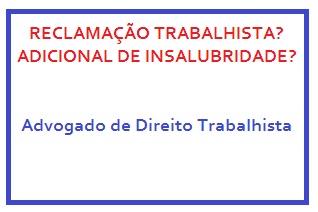 Advogado de Direito Trabalhista no Rio de Janeiro - adicional de insalubridade