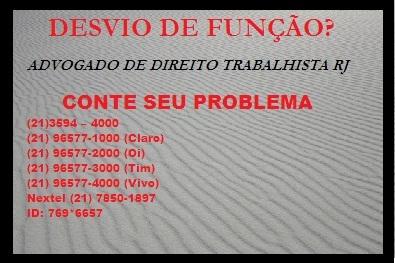 Advogado de direito trabalhista no Rio de Janeiro -- RJ