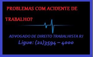Advogado de direito trabalhista - acidente de trabalho