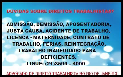ADVOGADO DE  DIREITO TRABALHISTA