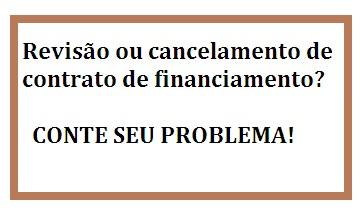 CANCELAMENTO DE CONTRATO DE FINANCIAMENTO