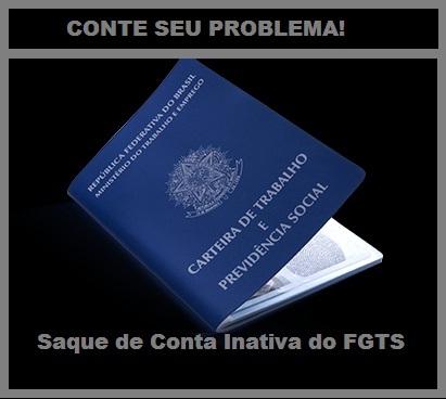 saque de conta inativa do FGTS