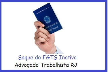 saque do FGTS inativo