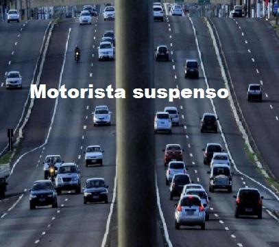 motorista suspenso