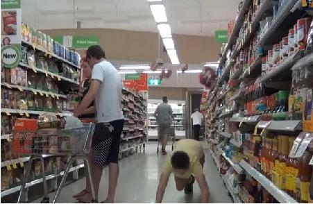 queda em supermercado